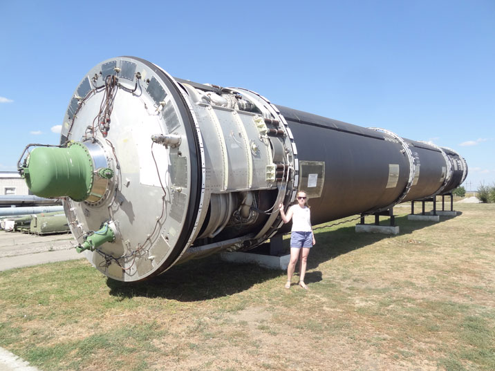 The R-36 ICBM could reach the United States from Pervomaysk and carry 10 nuclear warheads