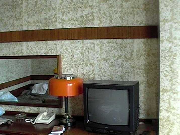 1950s Soviet style Interior of our room in Hotel Russia