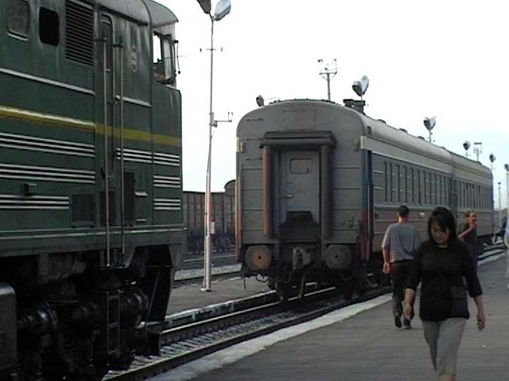 2TE10U Locomotive in the Russian Mongolian border town Naushki