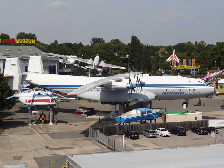 The Antonov An-22 cargo plain was build in 1966 and is now one of the highlights of the Technik Museum