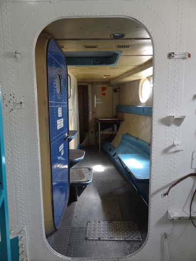 Entrance from the cargo bay to the crew area of the An-22, the interior almost looks like a ship