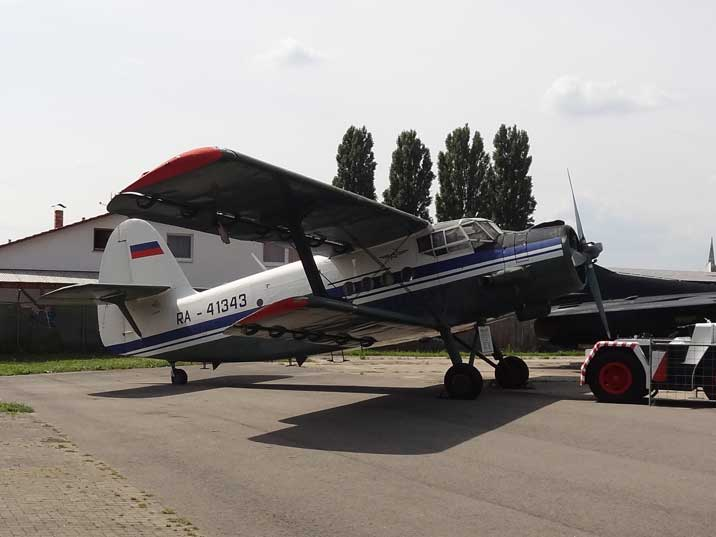 Antonov An-2TP that was donated to the Technik Museum Speyer by the Russian city of Kurk, a partner town of Speyer