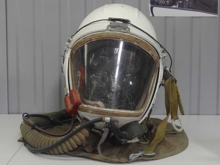 Soviet GSh-4MS high altitude Helmet used between 1961 and 1967 by MiG pilots