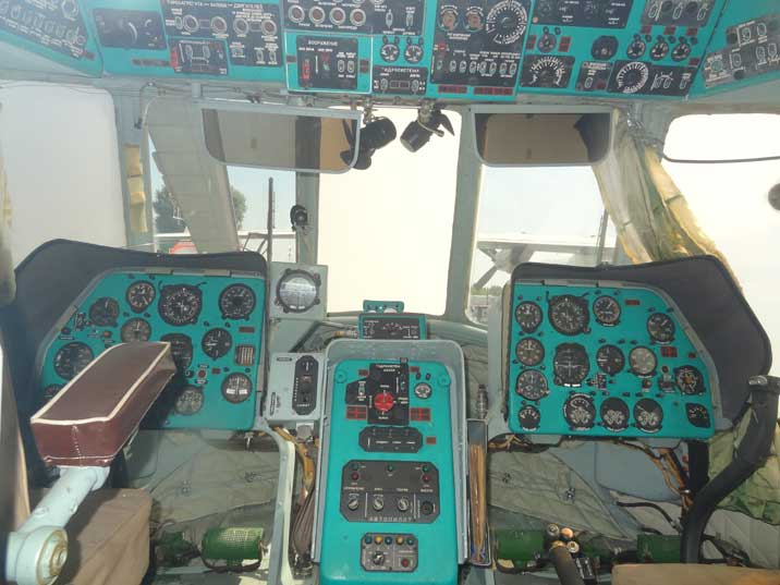 Cockpit of the Soviet Mil Mi-14PL anti-submarine helicopter that saw service in the East German Peoples Navy