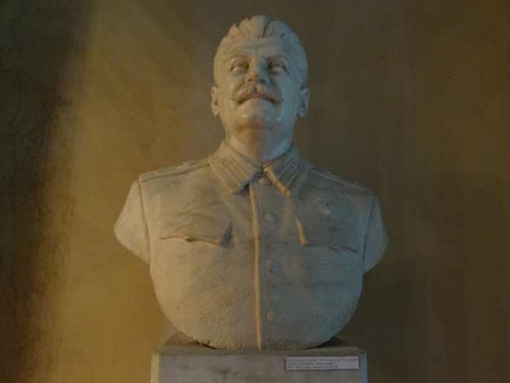 Bust of Stalin in his Army Uniform with his Hero of the Soviet Union medal pinned on his chest