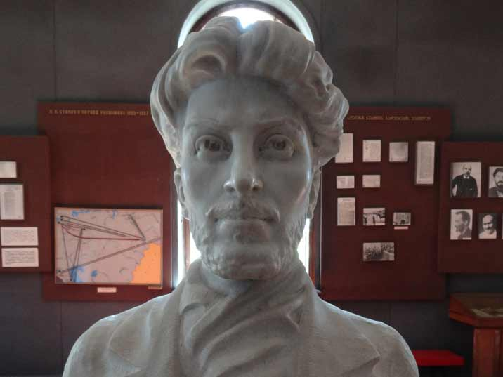 Bust of Stalin in his Georgian revolutionary days displayed in the Stalin Memorial museum