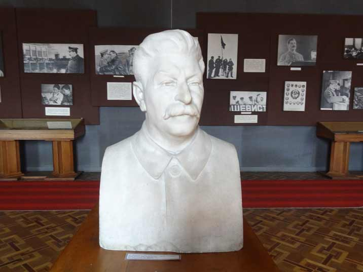 Bust of Stalin displayed in the Stalin Memorial museum in Georgia Gori