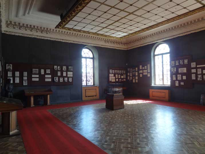 The first exposition hall of the Museum is dedicated to Stalin's early life and revolutionary activities in Georgia