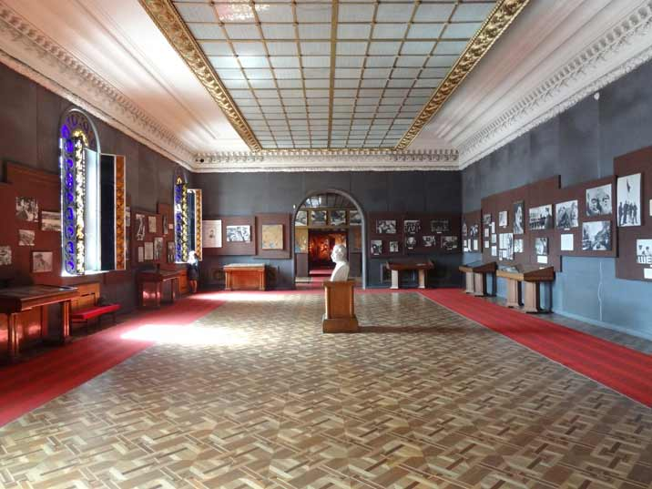 The second hall of the Stalin Museum is dedicated to Stalin's rise to power and activities in the 1930