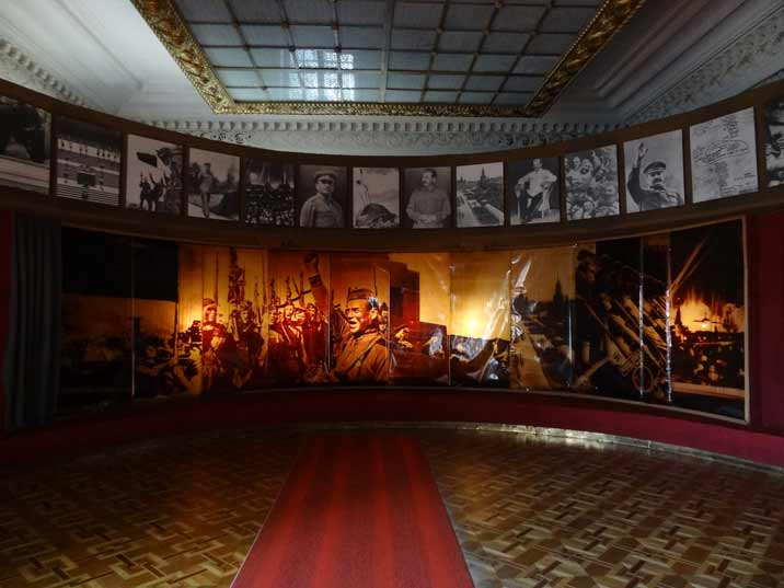 The fourth exposition hall celebrates the Soviet victory over the Nazis at the end of The Great Patriotic War