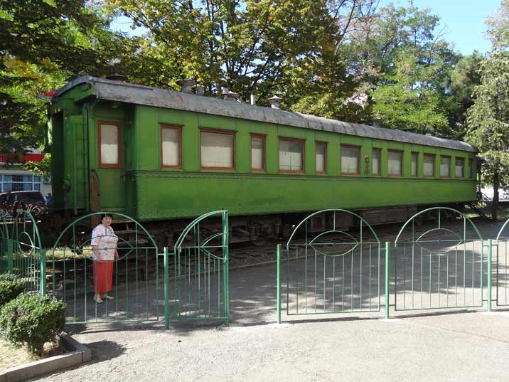 Stalin's personal rail carriage which he used to travel to the Yalta Conference and the Tehran Conference