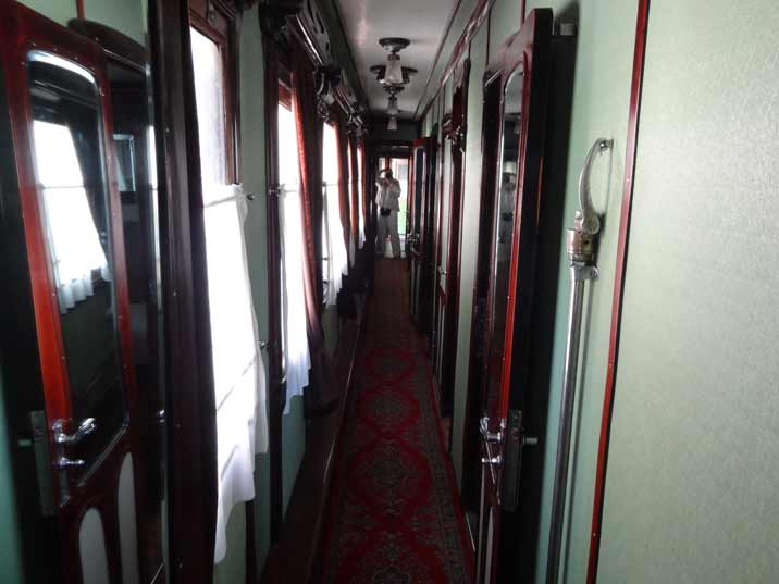 The corridor of Stalin's rail carriage that he used to travel trough the Soviet Union