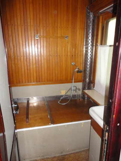 The shower that Stalin used when he travelled to the Yalta and Tehran Conferences with his personal train