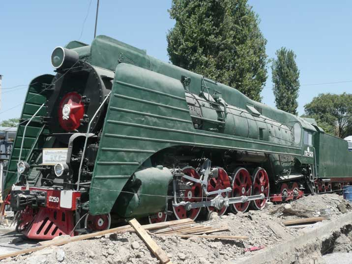 The P36 class were the last Soviet steam locomotive series built by the Kolomna Works named after Kuibyshev in 1949
