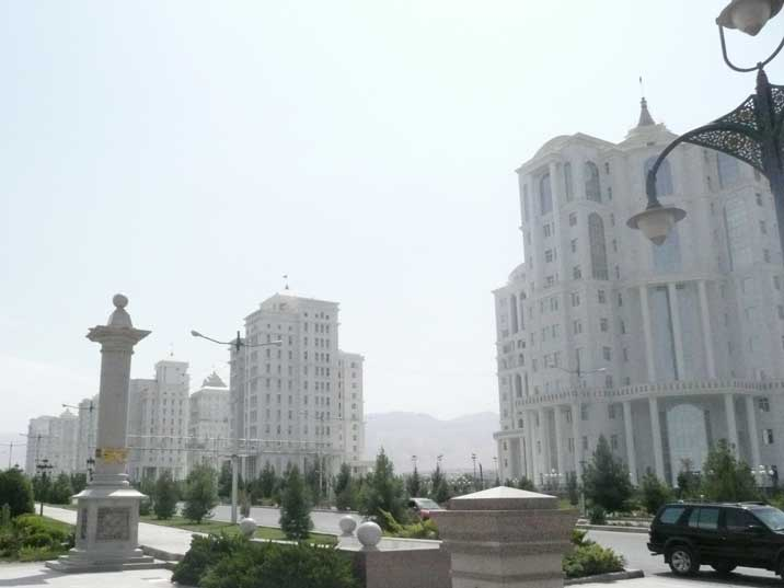 Residential buildings in the most expensive area of Ashgabat