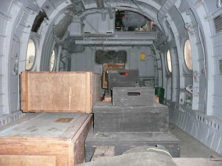 Cargo bay of the Mi-4 used by the Czechoslovak Air Force