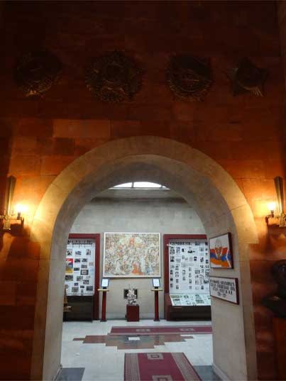 Arch to the exposition area that now houses a permanent exposition about the Nagorno-Karabakh War