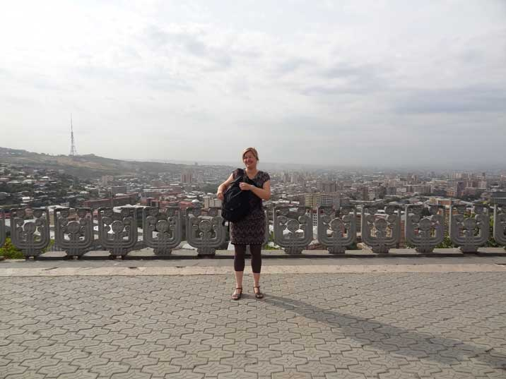 The plateau of the Victory Park Memorial is a great place to get an overview of the city of Yerevan