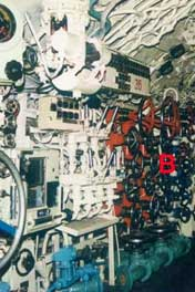 The Control room of the B-80 before it was stripped down