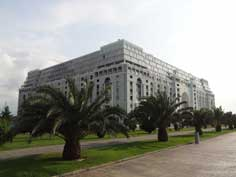 The new Ajara building in Batumi could well be an example what 21st century Soviet architecture could have looked like