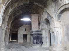 The interior of Haghpat Monastery that has not been over renovated and kept its original medieval atmosphere
