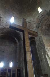 Large wooden cross erected by St. Nino, the female evangelist who converting King Mirian III to Christianity