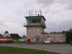 Control tower of Khrabrovo Airport, the home base of KD Avia, the Kaliningrad based Russian low cost airline