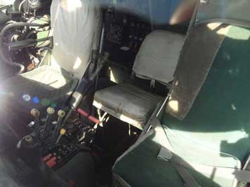 The cockpit of the Antonov An-26 displayed in Hermeskeil is in relatively good shape