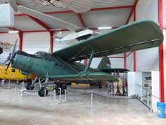 Antonov An-2P, the largest single-engine biplane in the world, the museum aircraft arrived from Budapest in 1987