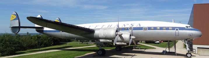 Lufthansa Lockheed Super Constellation that flew Konrad Adenauer to Moscow in 1955 on his missions to free the last German POW's