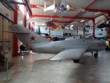 Mikoyan-Gurevich MiG-15UTI, the training version of the famous MiG-15 that claimed many victories during the Korean War