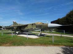The Mikoyan-Gurevich MiG-23MF was an export derivative of the MiG-23M and flown by the East German Air Force