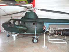 Mil Mi-1 or PZL-Swidnik SM- helicopter in colors of the Hungarian Air Force