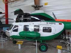 Mil Mi-2 helicopter produced by the polish PZL-Swidnik plant in the original colors of the former East German Police