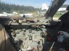 Cockpit of the Su-22M4 that was produced from 1983 to 1990 and equipped with high tech avionics