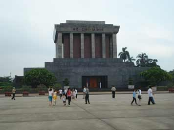The Ho Chi Minh Mausoleum in the Vietnamese capital Hanoi