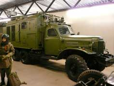 Russian ZIL-157 truck used as command vehicle by the Red Army