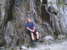 Cooling down during the hike of the Piro Peak mountaineering route