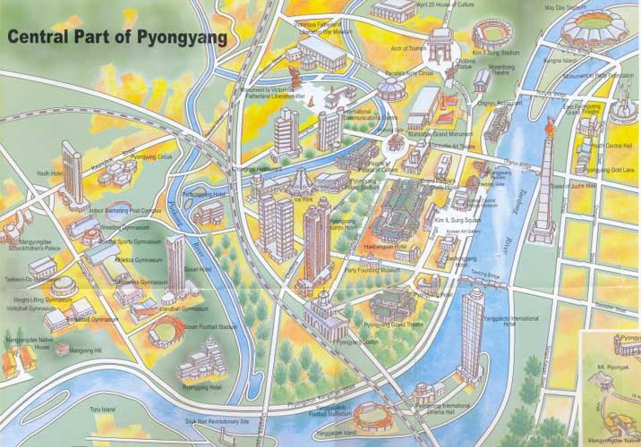 Pyongyang city guide – Moscow Tourist Attractions Map
