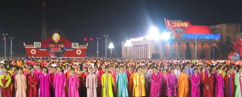 Mass dance during the 9.9 celebration on Kim Il Sung Square