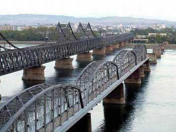 Friendship bridge between China and the DPRK over the Yalu River