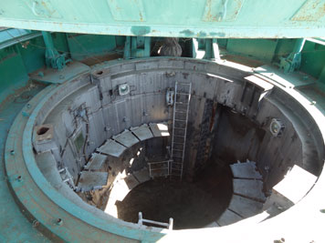 View inside the R-36 silo that is now filled with concrete for the most part