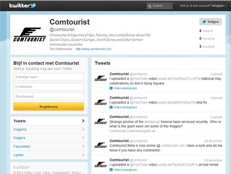 Follow us on twitter so you will know when new articles are published on Comtourist