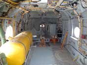 Cargo bay of the Mi-16 with a gas tanks and all sorts of wires supporting Anti Submarine Warfare technology
