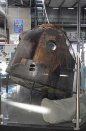 The original landing capsule of the Soyuz mission TM 19 that took place in 1994, Soyuz spaceships were used by the USSR from 1969