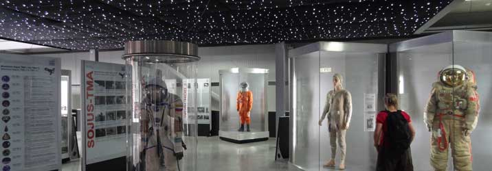 The Space Exhibition of the Speyer Technik Museum with a large collection of Soviet Space Suits and other original items