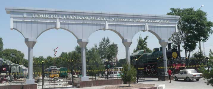 Entrance to the Tashkent Railway Museum located near the main Railway Station in the centre of Tashkent