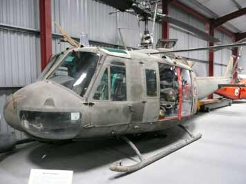The American Bell UH-1 Iroquois famous from the Vietnam war