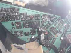 Interior of the Mi-24D main cockpit where the pilot commander sits